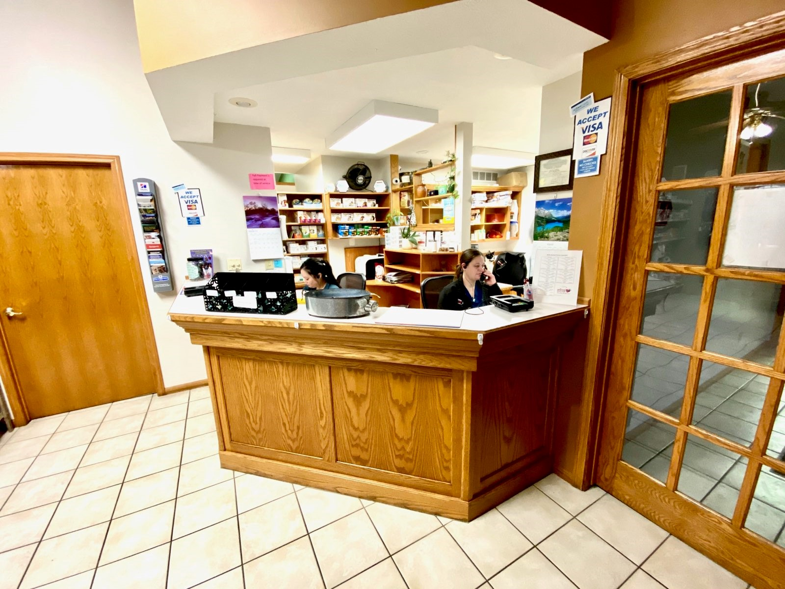 The waiting room where you will be greeted by our friendly staff and directed where to go.