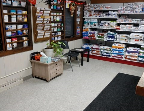 The waiting room you and your pet may comfortably sit. You will be directed where to go once our technicians are ready for you.